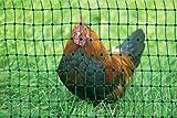 grüner Gartenzaun 50 m x 112 cm Hühnerzaun + 14 Pfähle Hühner-Zaun Geflügelzaun...